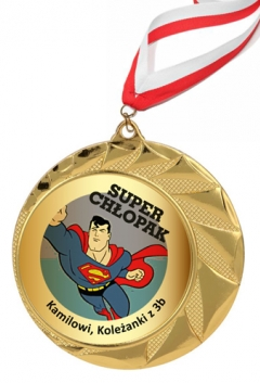 Złoty medal 70mm + wstążka
