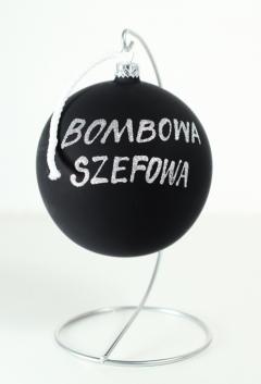 Bombowa Bombka 12cm  z imieniem lub dedykacją
