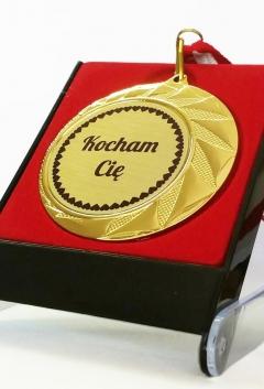 Złoty medal 70mm z etui