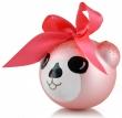Bombka Szklana MIŚ różowy 8 cm z imieniem dedykacją