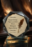 Stautetka Szklana GLORY Prezent na DZIEŃ NAUCZYCIELA