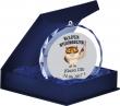 Medal Szklany Crystal 80mm w etui #szkoła