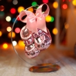 Bombka Szklana Buciki Różowe 8cm