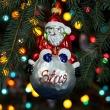 Bombka Szklana Mikołaj na kuli 14cm Prezent na Boże Narodzenie