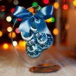Bombka Szklana Buciki Niebieskie 8cm Prezent na Boże Narodzenie