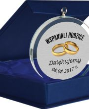 Medal Szklany Glasso 70mm w etui #ślub